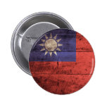 Wooden Taiwan Flag Buttons