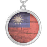 Wooden Taiwan Flag Necklaces