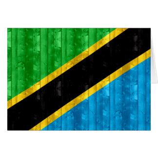 Wooden Tanzanian Flag Cards