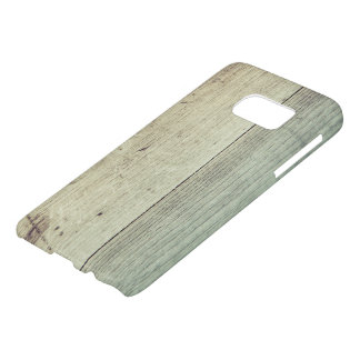 Wooden Texture Beige Blue Samsung Samsung Galaxy S7 Case