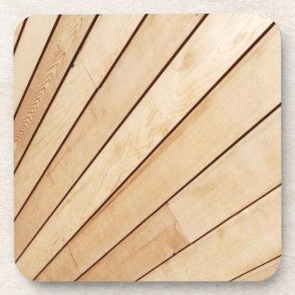 Wooden texture beverage coaster