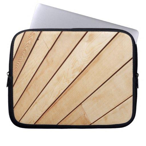 Wooden texture computer sleeve