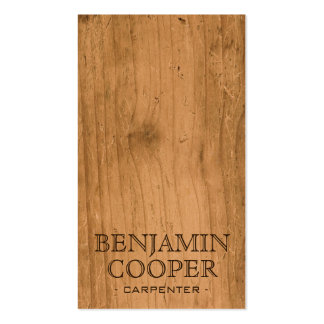 Wooden Texture - Style B Double-Sided Standard Business Cards (Pack Of 100)