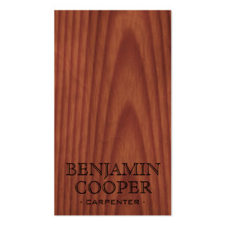 Wooden Texture - Style C Business Cards