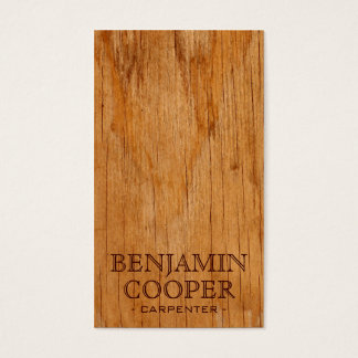 Wooden Texture - Style D Business Card