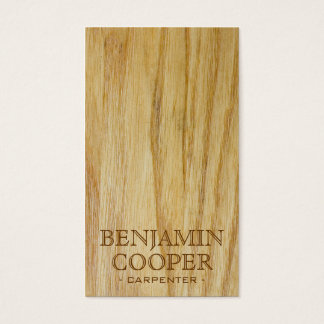 Wooden Texture - Style E Business Card