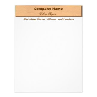 Wooden Textured Business Stationary Letterhead