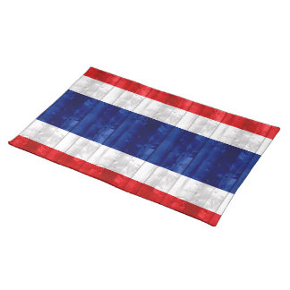 Wooden Thai Flag Placemats