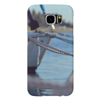 Wooden Themed, Several Boats Knotted To A Dock Wit Samsung Galaxy S6 Cases