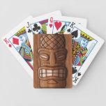 Wooden Tiki Mask Bicycle Playing Cards