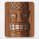 Wooden Tiki Mask Mouse Pad