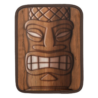 Wooden Tiki Mask Sleeve For iPads