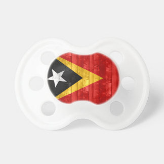 Wooden Timorese Flag Pacifiers