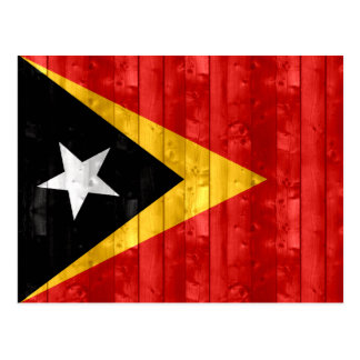 Wooden Timorese Flag Postcard
