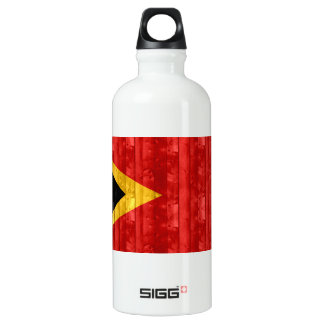 Wooden Timorese Flag Water Bottle