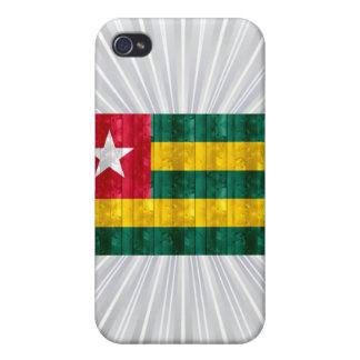 Wooden Togolese Flag Cover For iPhone 4
