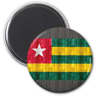 Wooden Togolese Flag Refrigerator Magnets