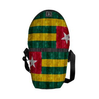 Wooden Togolese Flag Messenger Bag