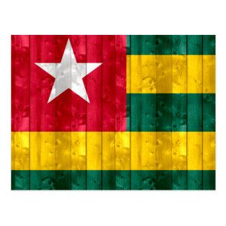 Wooden Togolese Flag Postcard