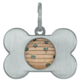 Wooden tool for climbing on the playground pet ID tag