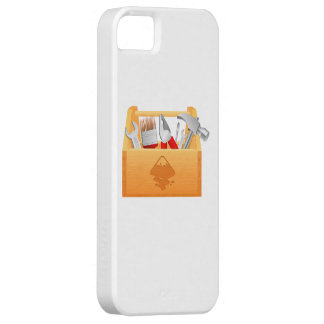 Wooden Toolbox with Tools iPhone 5 Covers