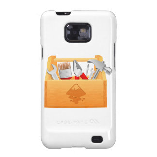 Wooden Toolbox with Tools Samsung Galaxy SII Case