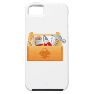 Wooden Toolbox with Tools iPhone 5 Case