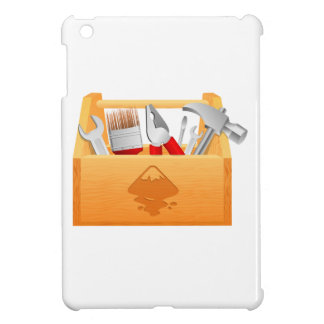Wooden Toolbox with Tools iPad Mini Cases