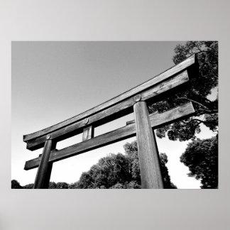 Wooden Torii of Meiji Shrine, Tokyo Poster