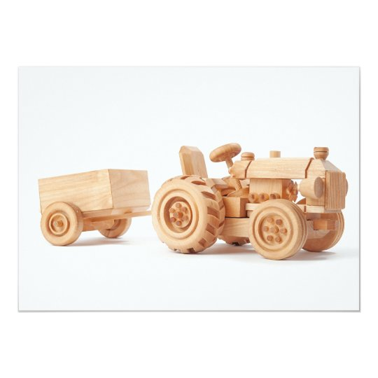 Wooden tractor card