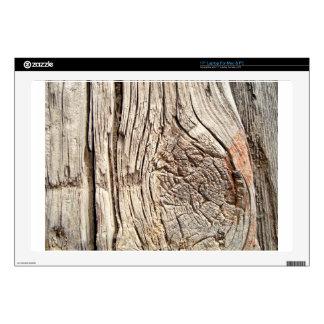 "Wooden Tree Bark 17"" Laptop Decal"