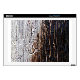 Wooden tree bark decal for laptop