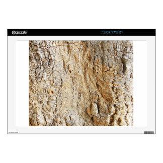 Wooden tree bark laptop decal