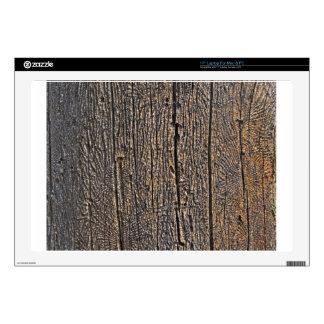 """Wooden tree bark skins for 17"""" laptops"""