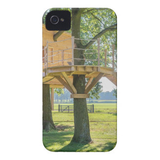Wooden tree house in oak tree with grass Case-Mate iPhone 4 case