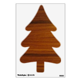 wooden tree wall decal