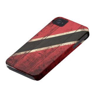 Wooden Trinidad and Tobago Flag iPhone 4 Case