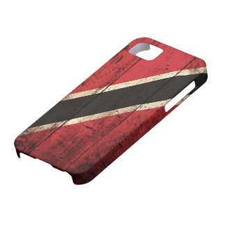 Wooden Trinidad and Tobago Flag iPhone SE/5/5s Case