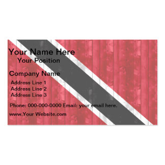 Wooden Trinidadian Flag Business Card