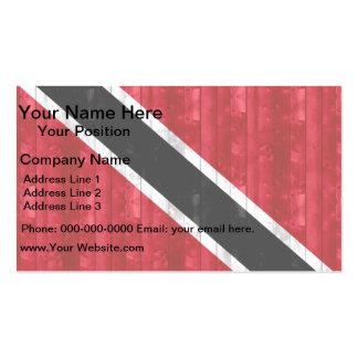 Wooden Trinidadian Flag Business Card
