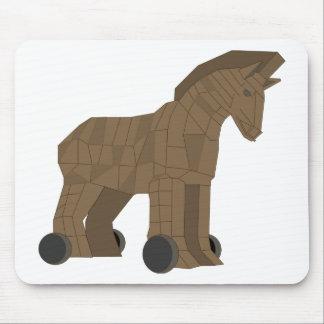 Wooden Trojan Horse Mousepads