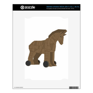 Wooden Trojan Horse Decals For The NOOK