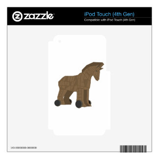Wooden Trojan Horse iPod Touch 4G Decals