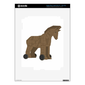 Wooden Trojan Horse Skins For iPad 3