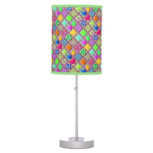 Wooden Tropical Baby Blocks Table Lamps Zazzle