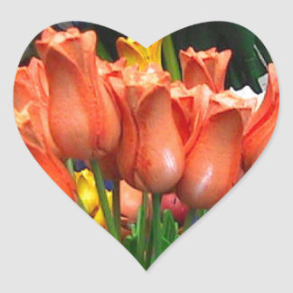 Wooden tulips from Amsterdam Heart Sticker