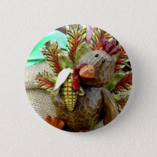 Wooden Turkey Button