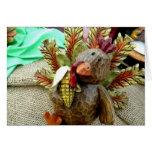 Wooden Turkey Greeting Card