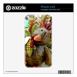 Wooden Turkey Skin For iPhone 4S
