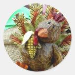 Wooden Turkey Sticker